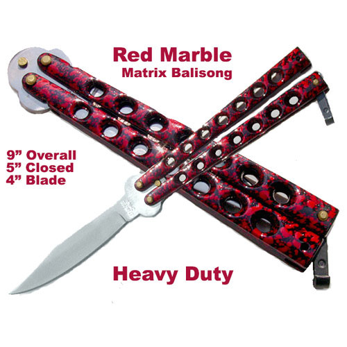 Scoundrel Red & Black Balisong Butterfly Knife