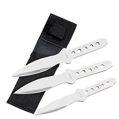 Ninja Throwing Knives Set of 3 Martial Arts Stainless Steel with Sheath