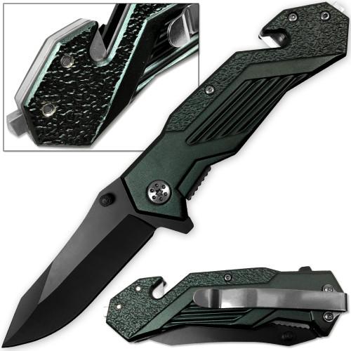 Alpha Tactical Glass Breaking Folding Knife
