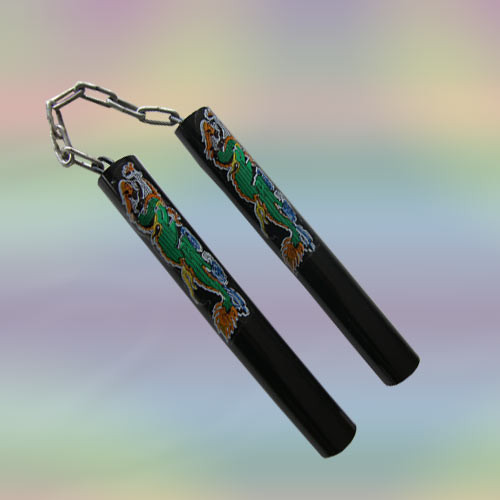Green Dragon Nunchuck Black