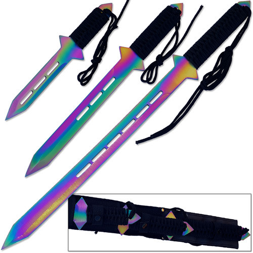 3Pcs Ninja Warrior Sword Set