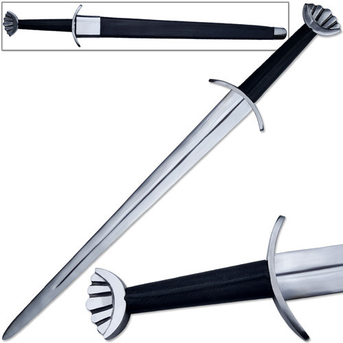 Black Viking Lobed Full Tang Sword