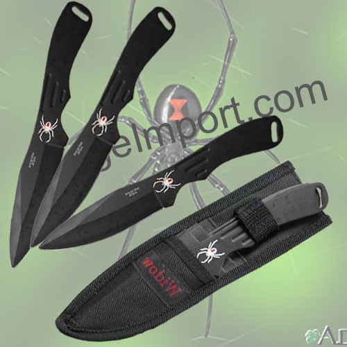 Spider Throwing Knives Set 1