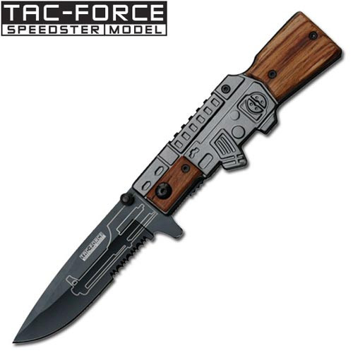 "Police"" M-16 Style Spring Assist Knife"