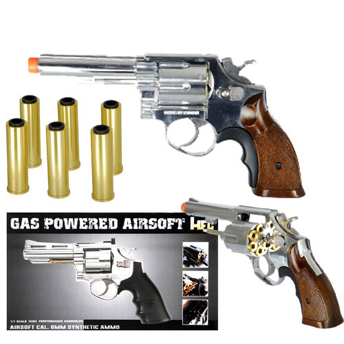 HFC HG-131C Gas Powered Revolver Pistol in Silver