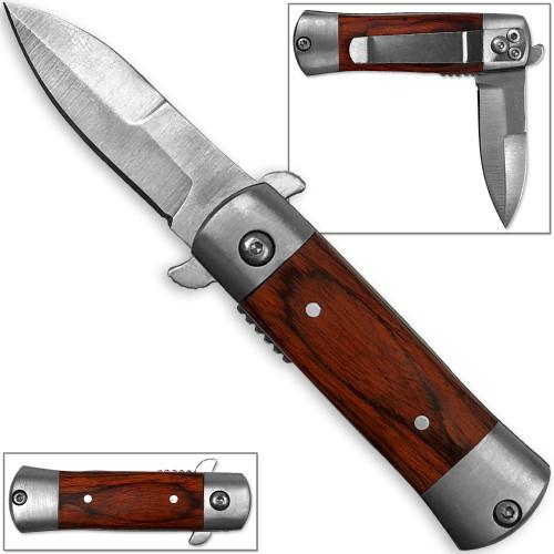 Mini Stiletto Spring Assist Knife