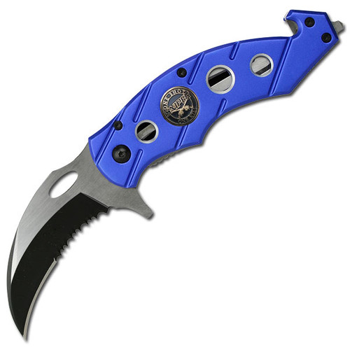 "Sniper "" Karambit Rescue Folder Spring Assisted Knife"