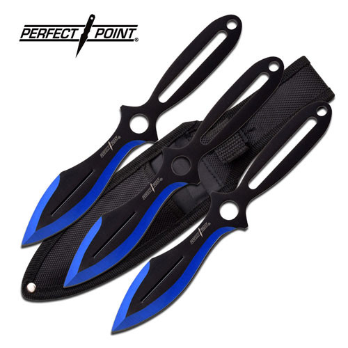 Holy Terror Perfect Point Throwing Knife Set - Blue