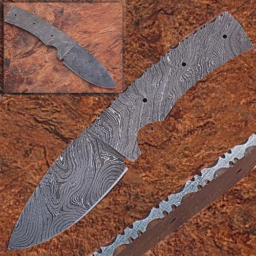 CUSTOM MADE DAMASCUS BLANK BLADE FULL TANG Knife 3