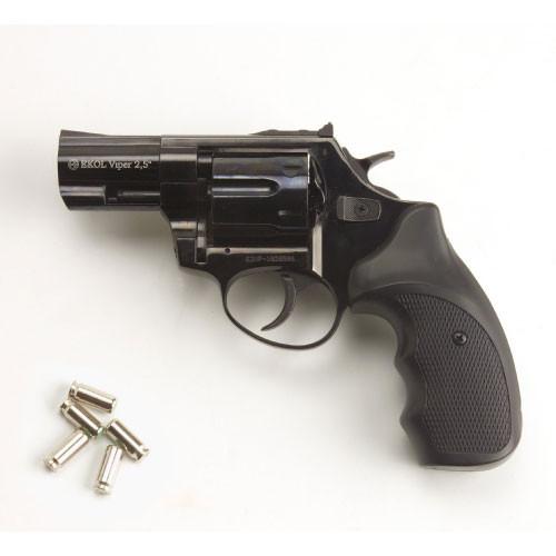 Viper 2.5 Barrel 9mm Blank Firing Revolver Black Finish