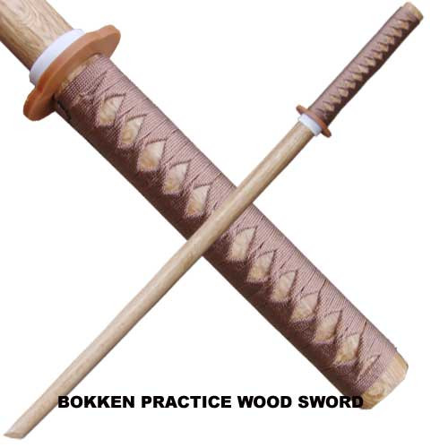 Natural Hardwood Bokken Practice Sword. 1
