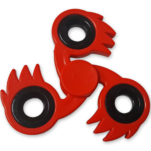 Spitfire Fidget Tri-Spinner Spike Red Fireball