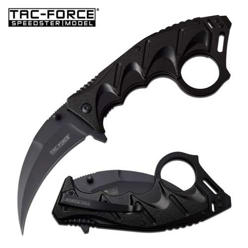 TAC-FORCE Tactical Karambit Assisted Open Knife Black