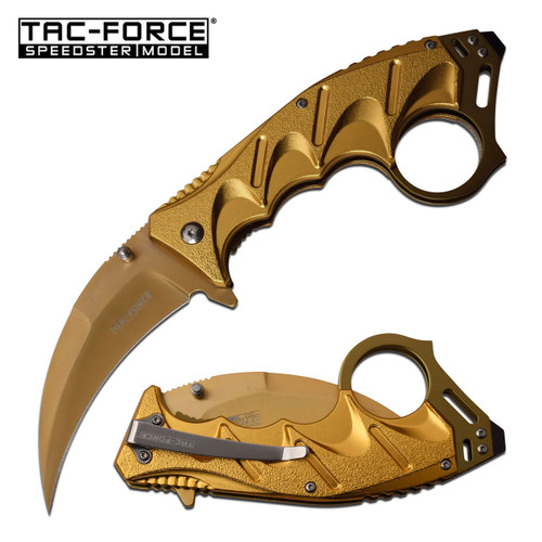 TAC-FORCE Tactical Karambit Assisted Open Knife Gold