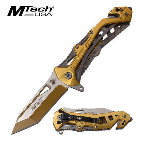 MTECH Tanto A/O Goldenrod Sporting Knife