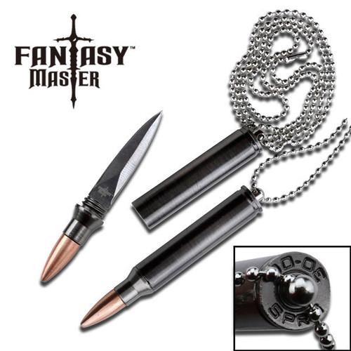 Fantasy Master 30-06 Bullet Replica Neck Knife