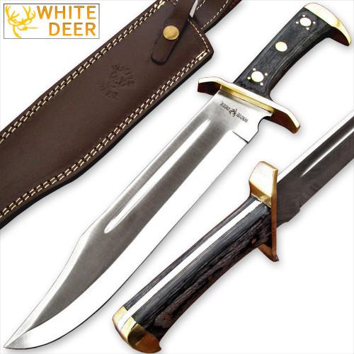 WHITE DEER D2 Steel Extreme Duty XXL Bowie Knife