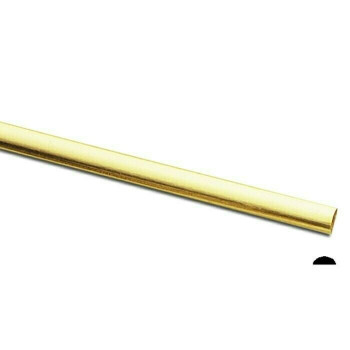 Jeweler's brass/NuGold Half-Round Wire, 12Ga (2x1mm) Sold By ft | 130456F |Bulk Prc Avlb