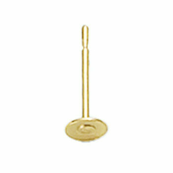 14/20 Yellow Gold-Filled 4 mm Post Earring with Pad | Sold by Pair | 637376 |Bulk Prc Avlb|
