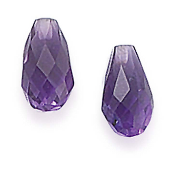 Amethyst 12 x 6mm Teardrop Briolette H |Sold by Each| 90183