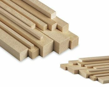 "Basswood plank, 1 x 1 x 48"", Sold By Each 