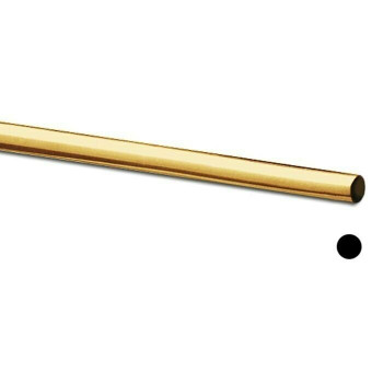 Jeweler's Brass/NuGold Round Wire, 12Ga (2mm) |Sold By ft | 130312F |Bulk Prc Avlb