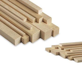 """Basswood stick, 1/16 x 1/4 x 48"""", Sold By Each 