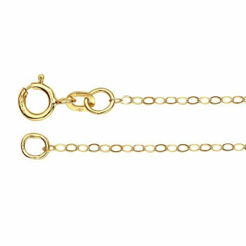 14K Yellow Gold 1.2mm Flat Oval Cable Chain 16"