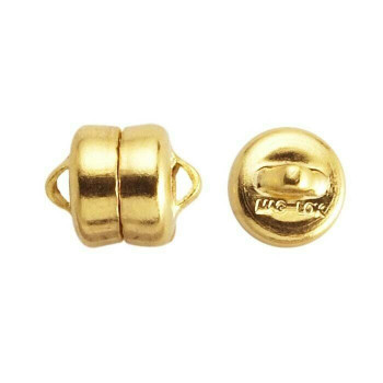 Brass Yellow Gold-Plated Mag-Lok Button Magnetic Clasps 7.8mm | Sold by Pair | Bulk Price Avlb | 61005212