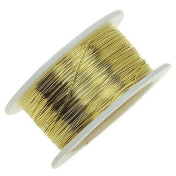 Jeweler's Brass/NuGold Round Wire, 12Ga (2mm) | Sold By 1 lb Spool | 130312