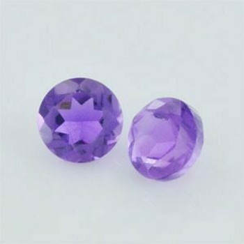 4x4x2.80 mm Round Eye Clean Purple Amethyst, Sold By each | RG017