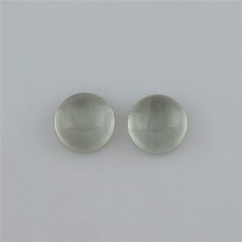 10x10x5.40 mm Round Green Amethyst, Sold By each | RG012