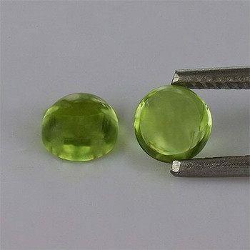 5x5x3 mm Round Eye Clean Green Peridot, Sold By each | RG019