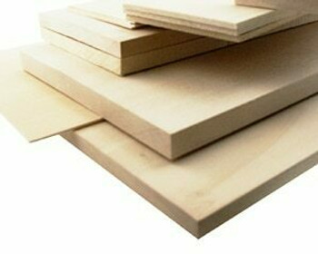 "Basswood sheet, 1/16 x 4 x 48"", Sold By Each 