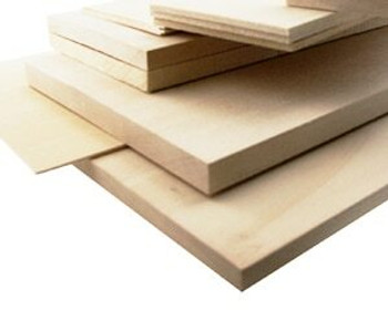 "Basswood sheet, 1/32 x 1 x 48"", Sold By Each 