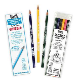 Underglaze Decorating Pencils Set of 6