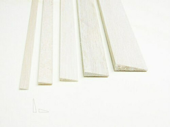 "Balsa wood, Trailing edge, 3/16 x 3/4 x 12"", Sold By Each 