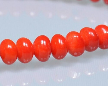 """Oval Red (Dyed) Coral Beads 6x4mm 