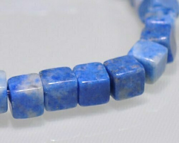 """Cube Lapis Lazuli Beads 4mm 