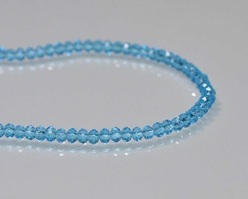 "Briolette Light Sapphire Crystal Beads 3x3.5mm | Sold by 1 Strand(8"") 