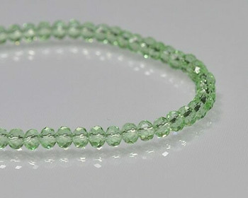 "Briolette Peridot Crystal Beads 3x 4.5mm | Sold by 1 Strand(9-10"") 