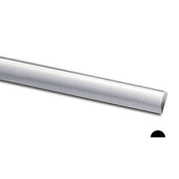 925 Sterling silver Half-Round Wire, 8Ga(3.263mm) | Sold by cm | 100408 |Bulk Prc Avlb