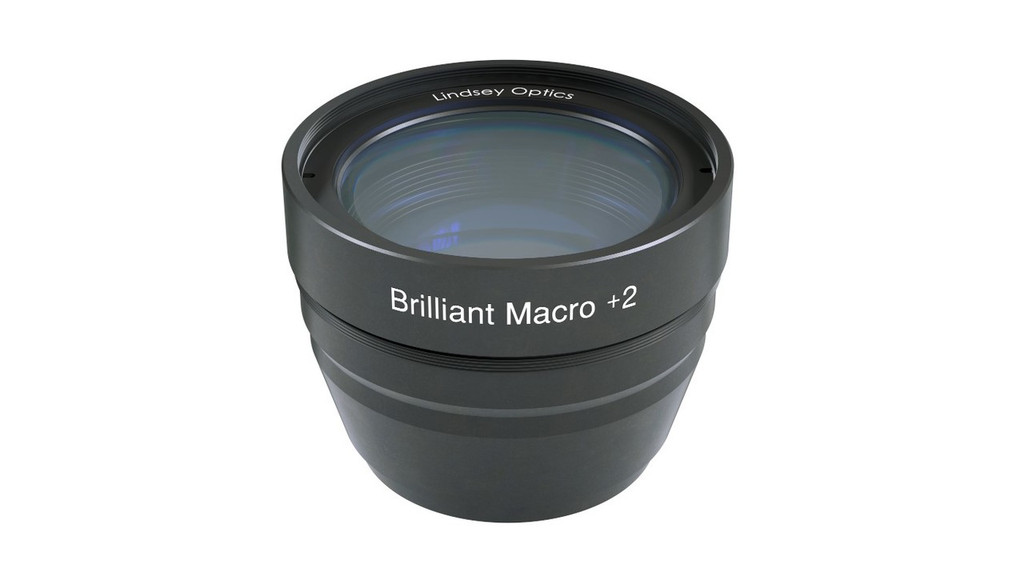 Brilliant Macro +2 Attachment Lens.  This Macro lens attachment works with cine prime lenses and compact zoom lenses.