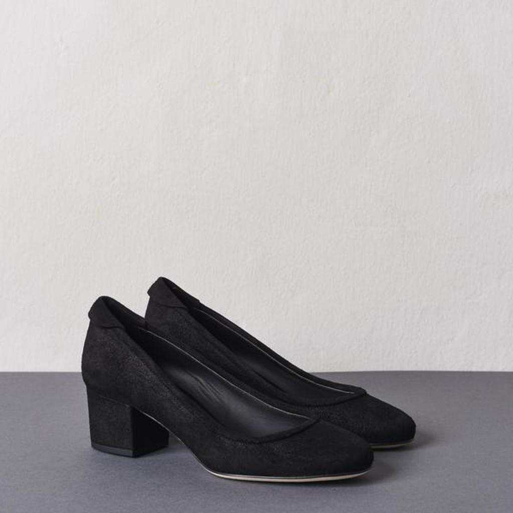 Black Block Heel Pump