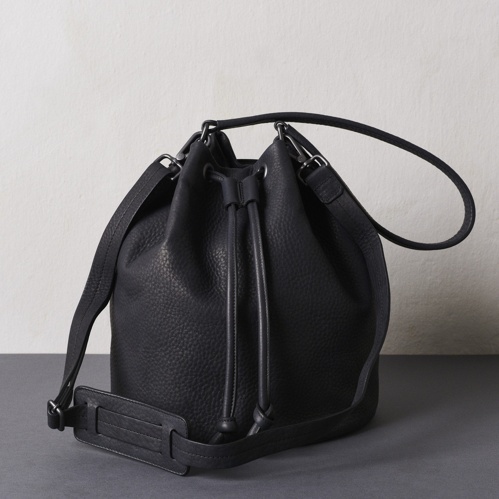 Black Nappa Bucket Bag