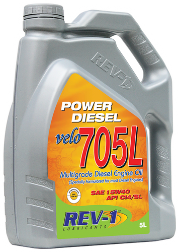 REV-1 Velo 705L 15W-40 CI4 Diesel Engine Oil 5L