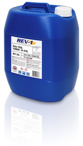Rev-1 Velo 15W-40 CI-4 Diesel Engine Oil 20L