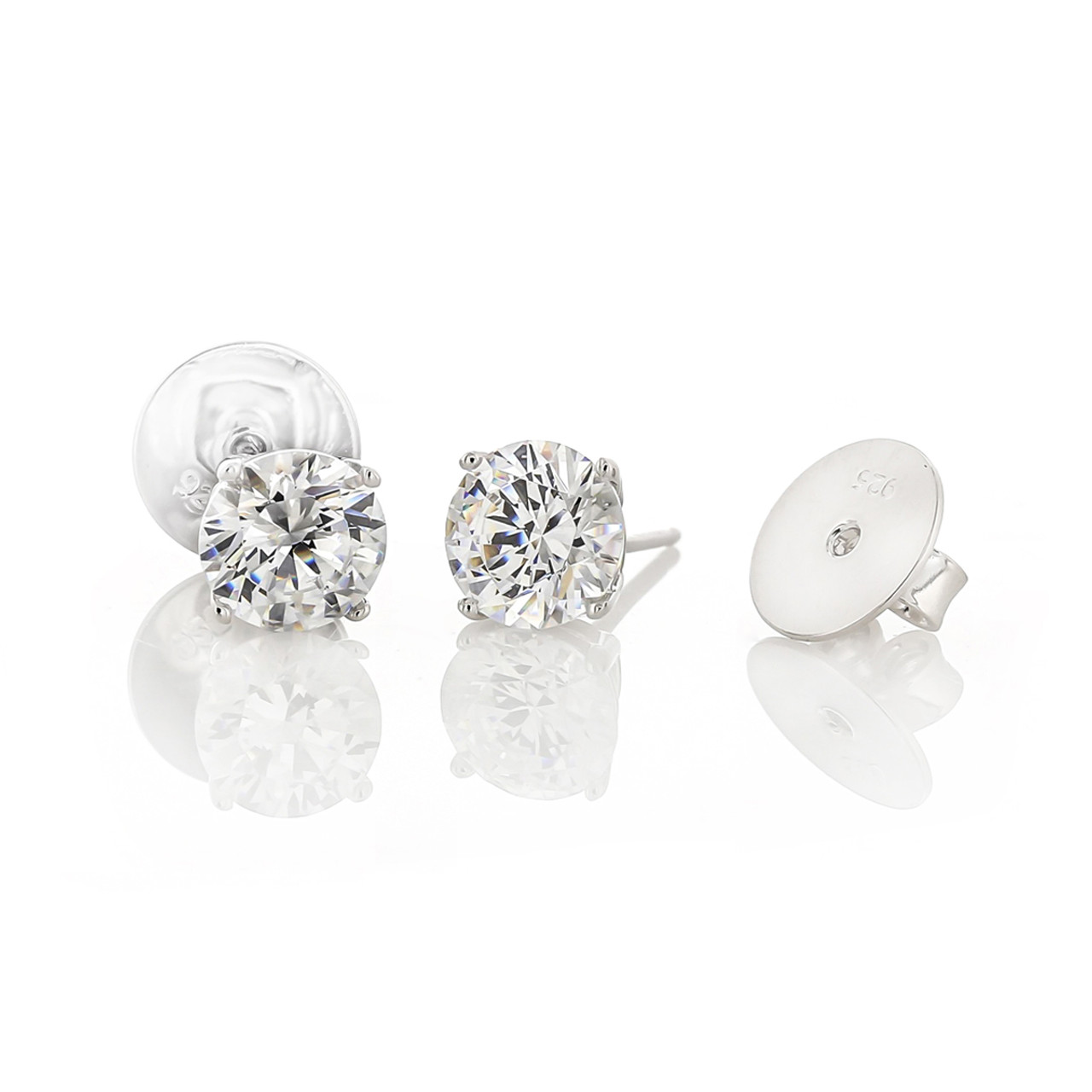 carat jewels solit ct round copy halo mika products earrings