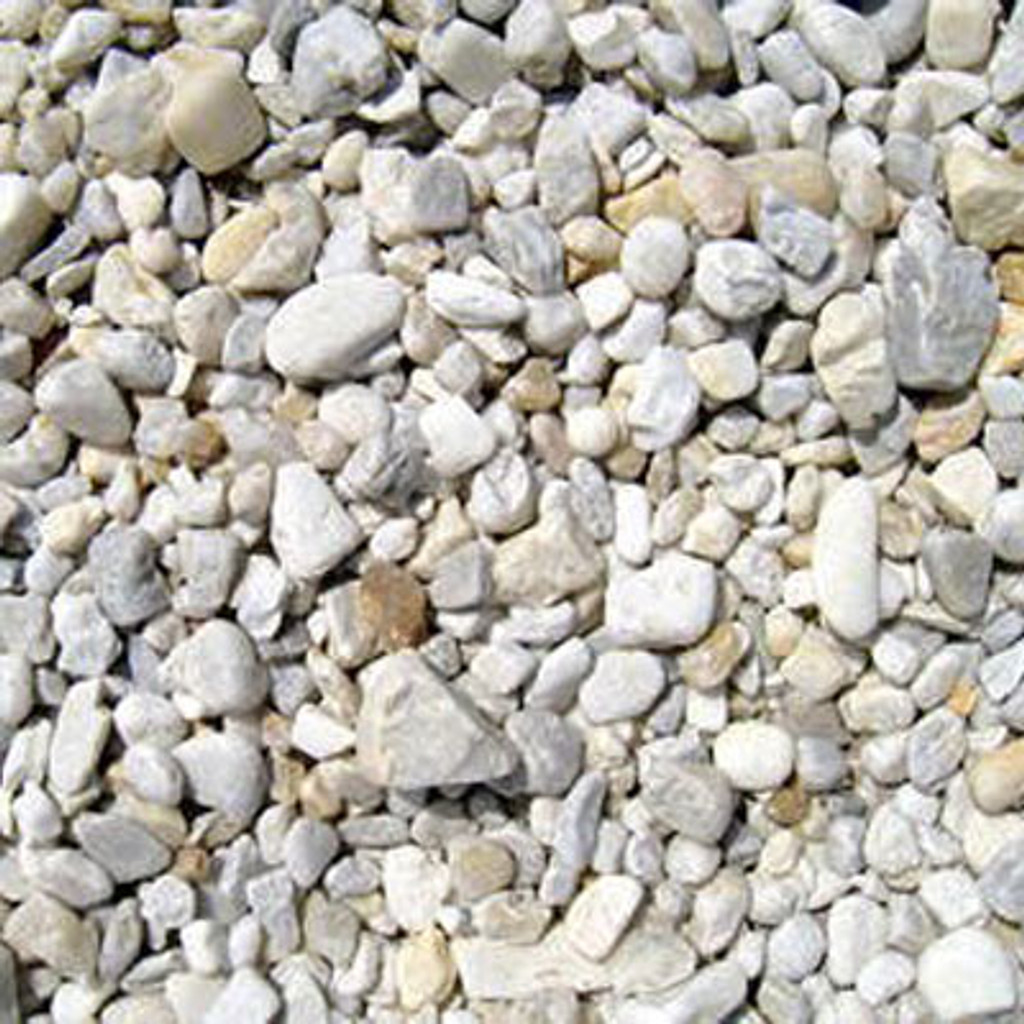 River Rock per Cubic yard (Brown and White)
