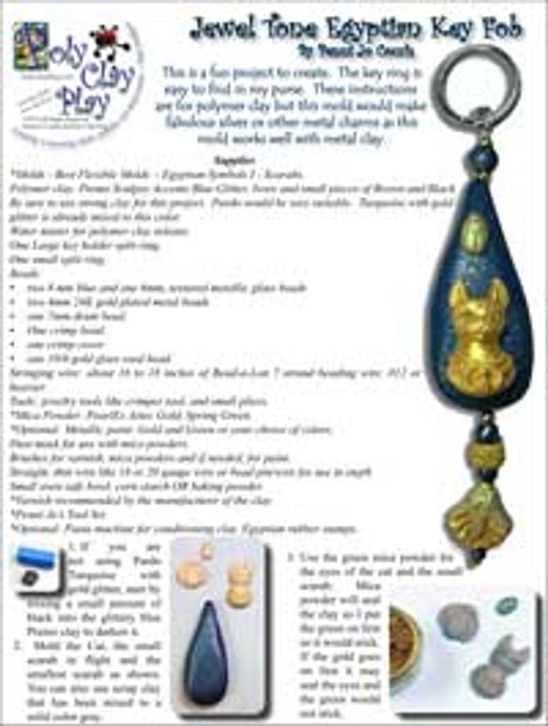 Penni Jo Originals Jewel Tone Egyptian Key Fob Tutorial